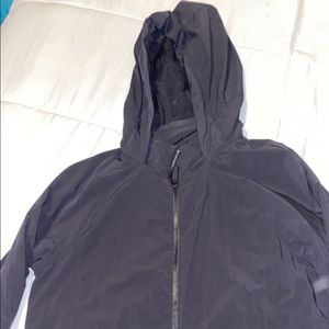 Black lululemon rain jacket